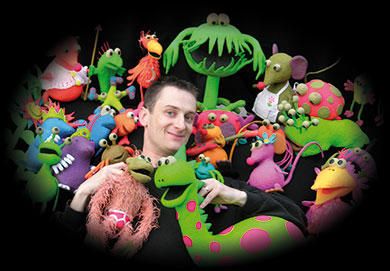 David Stewart and his Mousetale Puppets